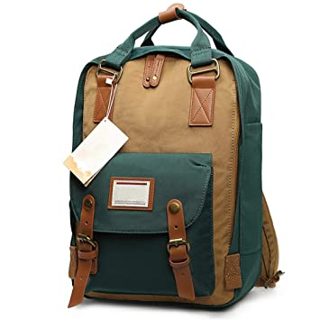 Amazon.com | Women Backpacks Teenage Girls Mommy Computer Travel Luggage Laptop Backpack Bagpack Mochilas Kanken Seaweed green | Backpacks