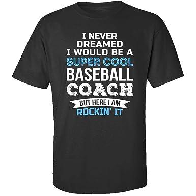 36fa5f1f0a50 Baseball Coach Funny Appreciation Gift - Adult Shirt S Black