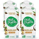 nutpods Dairy-Free Creamer Unsweetened (Hazelnut, 4-pack) - Whole30/Paleo/Keto/Vegan/Sugar Free