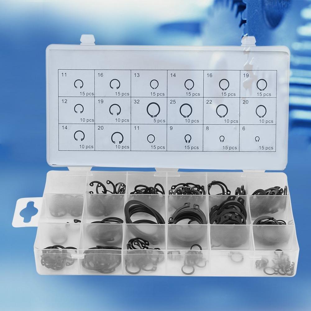 225pcs Internal /& External Snap Retaining Ring Circlip Assortment Box Set 18 Sizes Snap Ring