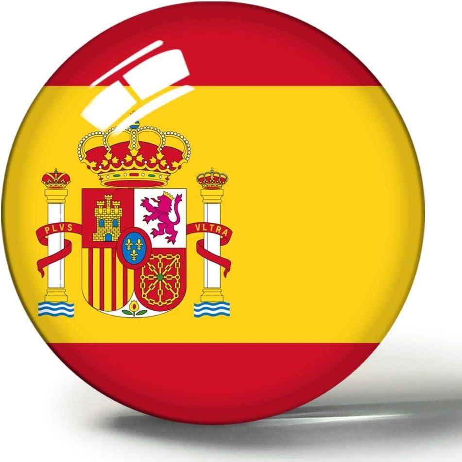 Hqiyaols Souvenir Bandera Nacional de España 3D Imán de Nevera Imanes de Nevera Círculo de Cristal Etiqueta Colección de Recuerdos Regalo de Viaje: Amazon.es: Hogar