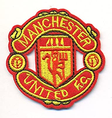 "Manchester United Soccer Logo Embroidered Iron On Patches Hat Jersey 2 1/2 x 2 1/2"" Shipped from USA"