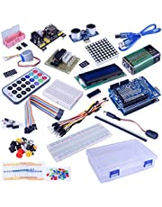 Quimat 39 in 1 Sensor Module Kit with PDF Tutorial,The Starter Kit Robot Projects for Arduino UNO R3 Raspberry Pi 3 2 Mega Due Nano Arduino Programming