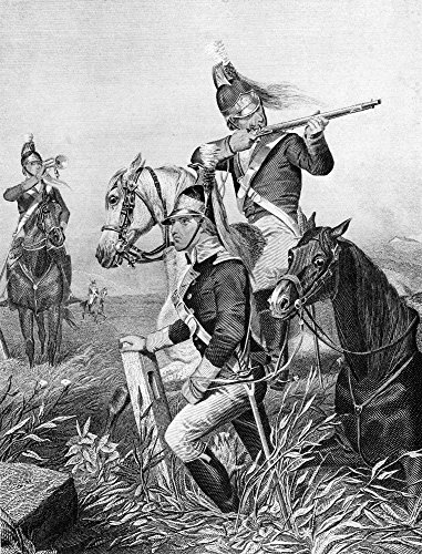 - Guilford Courthouse 1781 Namerican Cavalry Under The Command Of Henry Lee Engage British Troops At Guilford Courthouse North Carolina During The American Revolutionary War 15 March 1781 Line Engraving