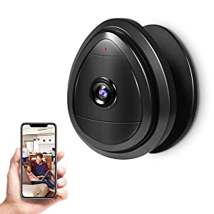 Wireless Security Camera, Indoor Home WiFi Wireless IP Security Surveillance System with App, Night Vision, 2-Way Audio, Smart Wireless Baby Monitor