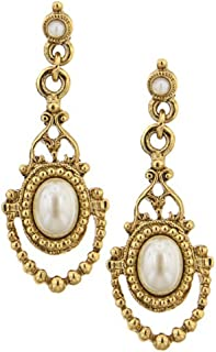 product image for 1928 Jewelry Her Majesty Simulated Pearl Earrings