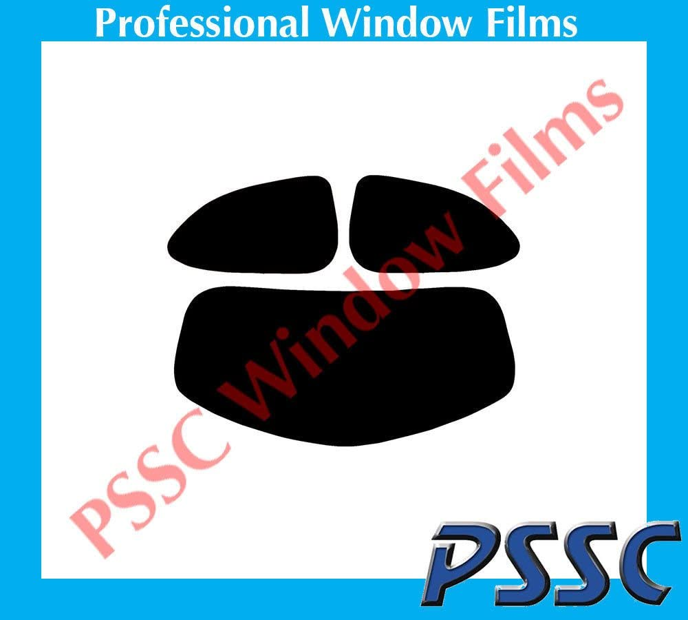 PSSC Pre Cut Rear Car Window Films for Mazda 2 3 Door Hatch 2007 to 2015 05/% Very Dark Limo Tint