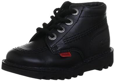promo code 7a995 f2d31 Kickers Kick Hi Toddlers I Core Black Leather Boots-UK 5 Infant