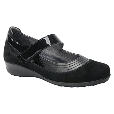 Amazon.com | Drew Shoe Women's Genoa Timeless Leather Casual Mary Janes |  Flats