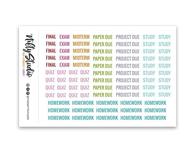 College Planner Stickers School Stickers For Planners