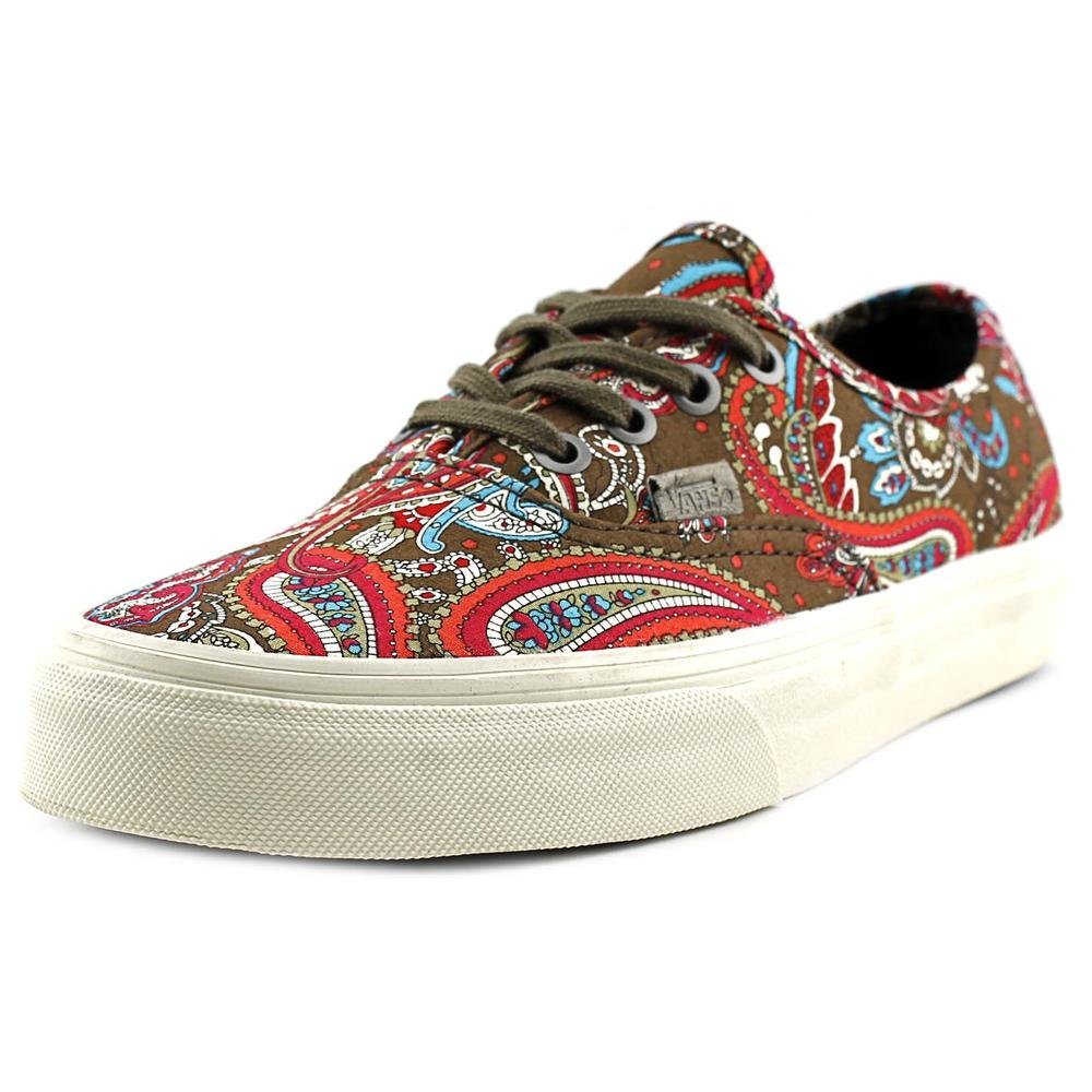 Vans Mens Authentic Low Top Lace Up Canvas Skateboarding Shoes B012GQYCN6 13 D(M) US|green / olive