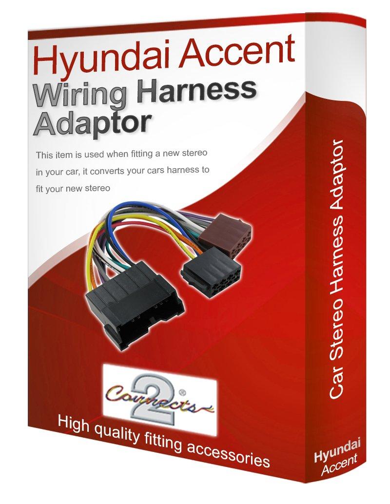Hyundai Accent Radio CD est/éreo Cableado Loom de plomo adaptador convertidor de ISO