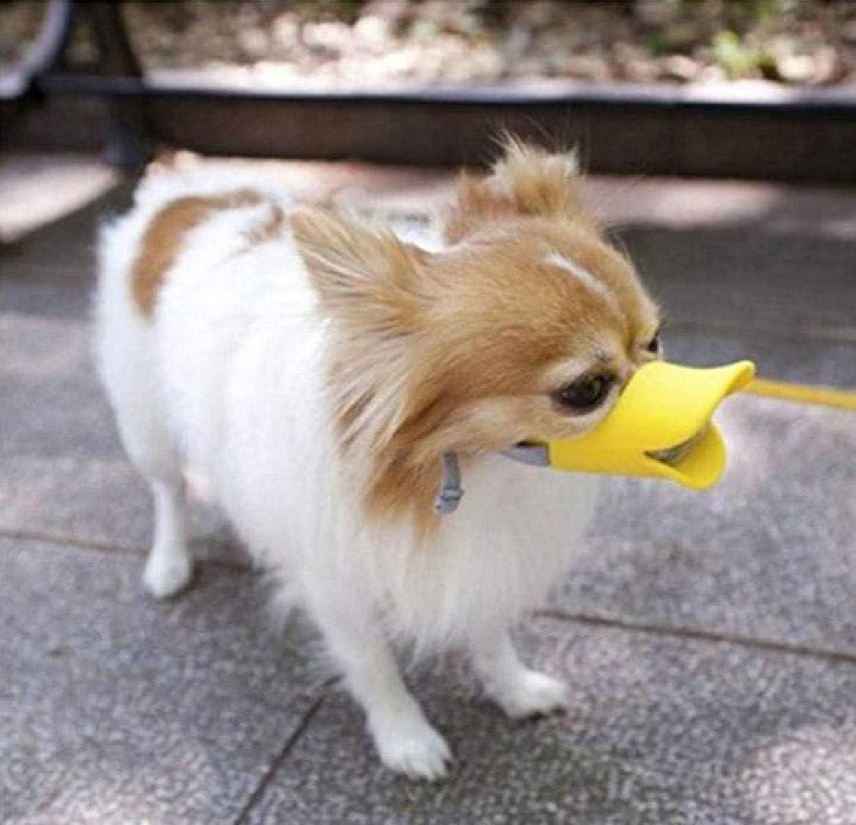 WISMURHI Protectores bucales en Forma de Pato para Perros Protectores bucales para Perros peque/ños Hocico de Perro de Silicona de Pato Lindo Dise