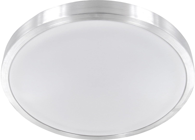 LED 12W Aluminium Deckenleuchte Badleuchte IP44 - Badleuchte - 700lm Ø260mm - warmweiß (3000 K) [Energieklasse A] HAVA