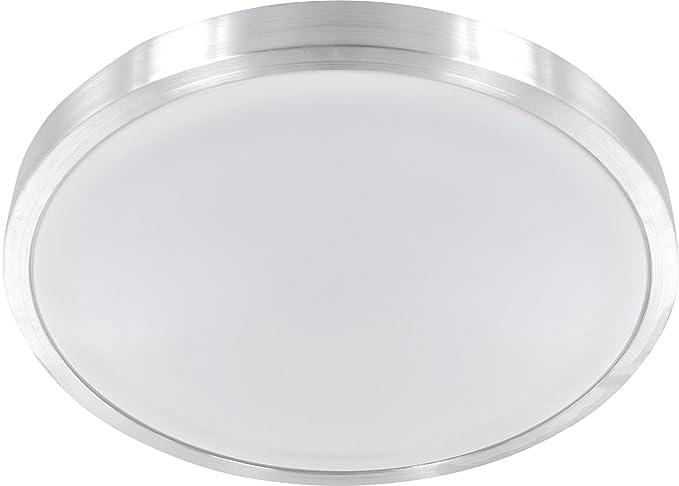 LED 12 W aluminio – Lámpara plafón de baño IP44 – Lámpara para baño – 750LM Ø260 mm – tagesweiß (4500 K)