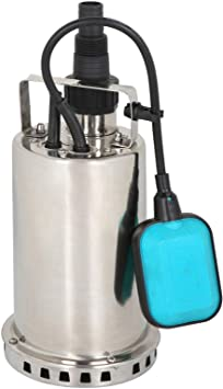 1HP Stainless Steel Submersible Sump Pump With Integrated Vertical Float 3000gph