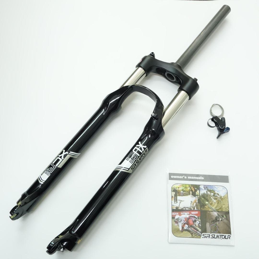 SR Suntour XCR RL Coil Spring MTB Bike Fork 29'' Black Straight 1 1/8'' Travel 100mm Disc Brake w/ Remote Lockout QR 9mm OEM Package