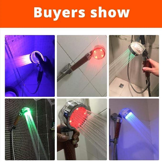 KangHS Ducha de mano/Luz LED de mano Bolas de filtro de lluvia ...