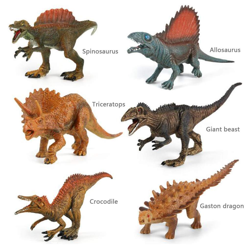 Other 3//4//5//6//7 Year Old Childrens Dinosaur Toy 6Piece Jurassic Dinosaur 7 Inch Simulation Dinosaur Toy Model Set PVC Solid Dinosaur Suitable for Boys and Childrens Toys Yonghui Le Toy Factory