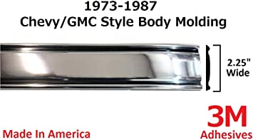 Pickup Trucks V10 K10 C30 Full Roll - 320 2.25 Wide Suburban K20 Autmotive Authority 1973-1987 Chevy GMC Chrome Side Body Trim Molding C10 Silverado K30 C20 Custom Deluxe