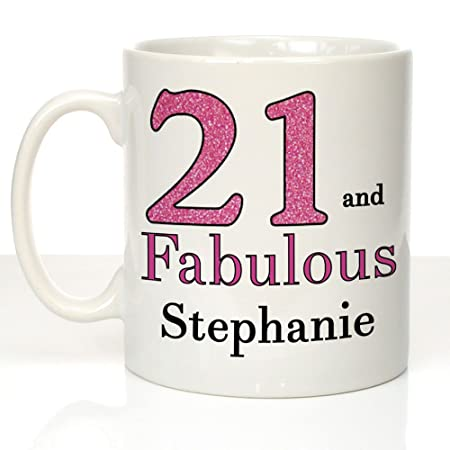 21 And Fabulous Personalised 21st Birthday Mug Gifts For Girls