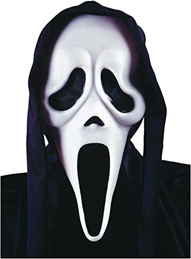 Fancy Dress Scream Horror Ghost Mask Screaming Face Halloween Adult Costume UK