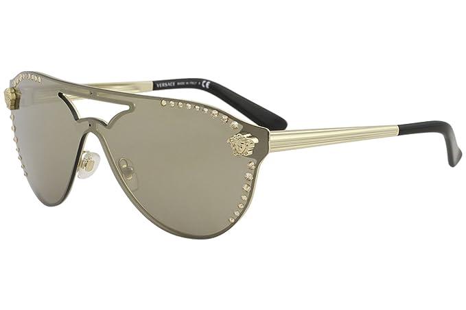64a7240309401 Versace 0VE2161B 12525A 42 Gafas de sol Dorado (Pale  Gold Lightbrownmirrordarkgold)