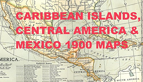 Map Of America 1900.Amazon Com Caribbean Central America Mexico 1900 Maps Voyages