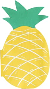 """Pineapple Party Napkins - 50 Pack Pineapple Shaped Die-cut 3-Ply Disposable Paper Party Napkins 4""""x7.4"""" for Hawaiian Aloha Luau Summer Theme Birthday Party Tableware Decoration"""