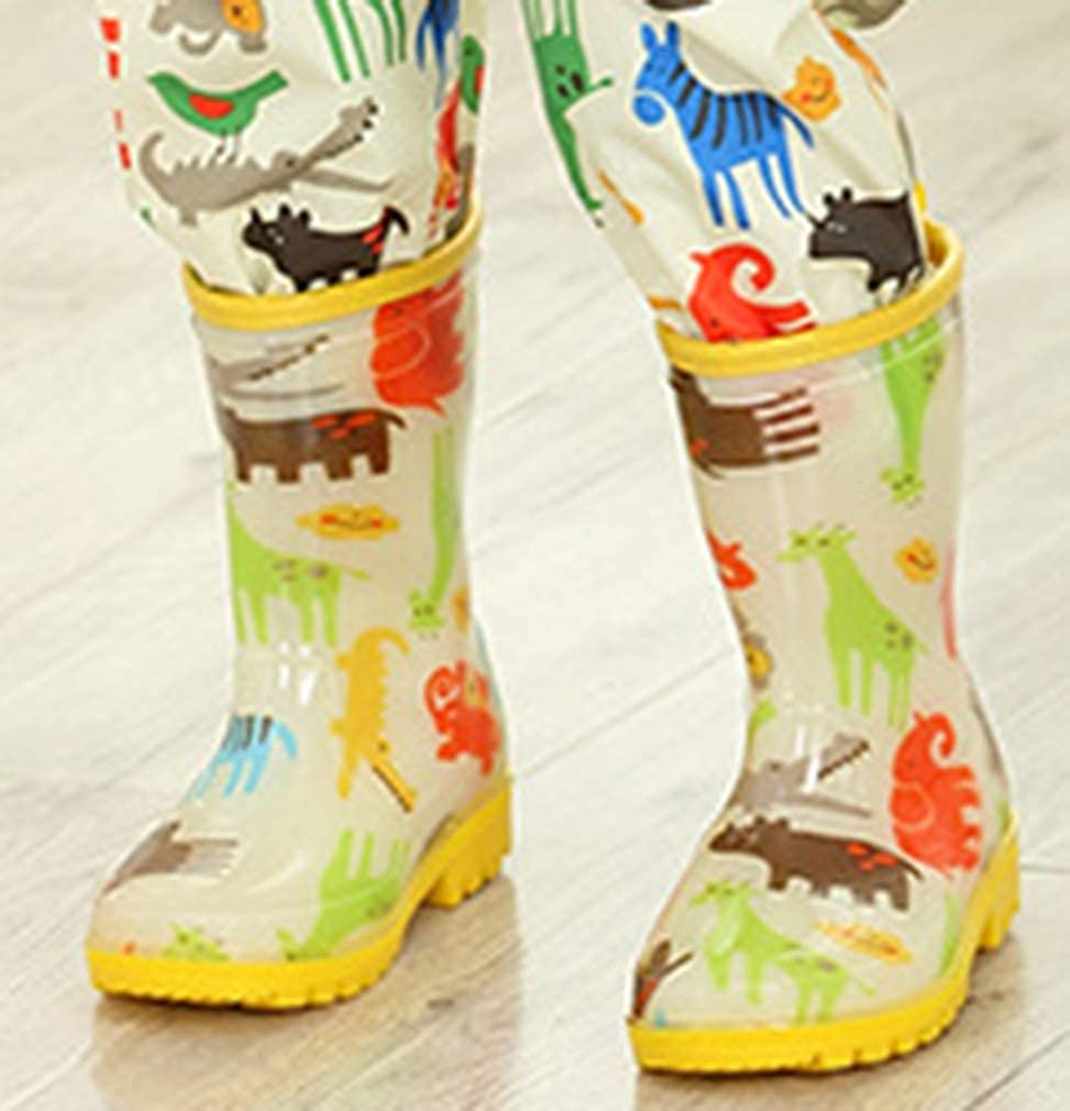 Toddler//Little Kid VECJUNIA Boys Girls Fashion Rain Boots Lightweight Shoes