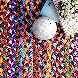 nuLOOM Tammara Boho Cotton Hand Braided Area