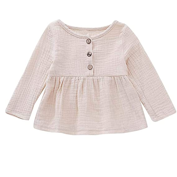 08c41a38a6e7 Deloito-Baby Girls Dress Newborn Clothes for 3-24 Months Long Sleeve ...