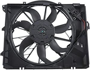 A-Premium Radiator Cooling Fan Assembly 600W for BMW E82 E84 E87 E88 E90 E91 128i 325i 328i 328xi 330i 2006-2013 N52N Engine Code Only