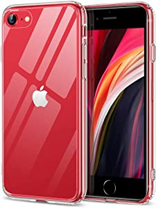 ESR HD Clear Designed for iPhone SE 2020 Case/iPhone 8/7 Case [Scratch-Resistant] [Yellowing-Resistant] [9H Tempered-Glass Back & Flexible TPU Bumper Frame] Shock-Absorbing Protective Case, Clear