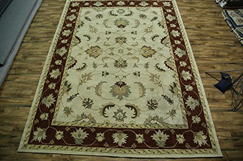 Rug Source 12x16 Hand Tufted Floral Tabriz Agra Oriental Area Rug for Bedroom (15' 6'' x 12' 0'') - Agra Wool Area Rug