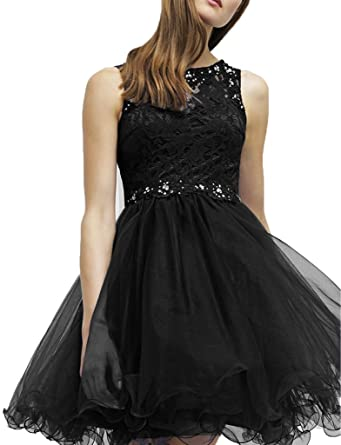 La _ Marie Black Lace Bridal Short Mini Cocktail Dresses Party Dresses Prom Dresses Mini Home