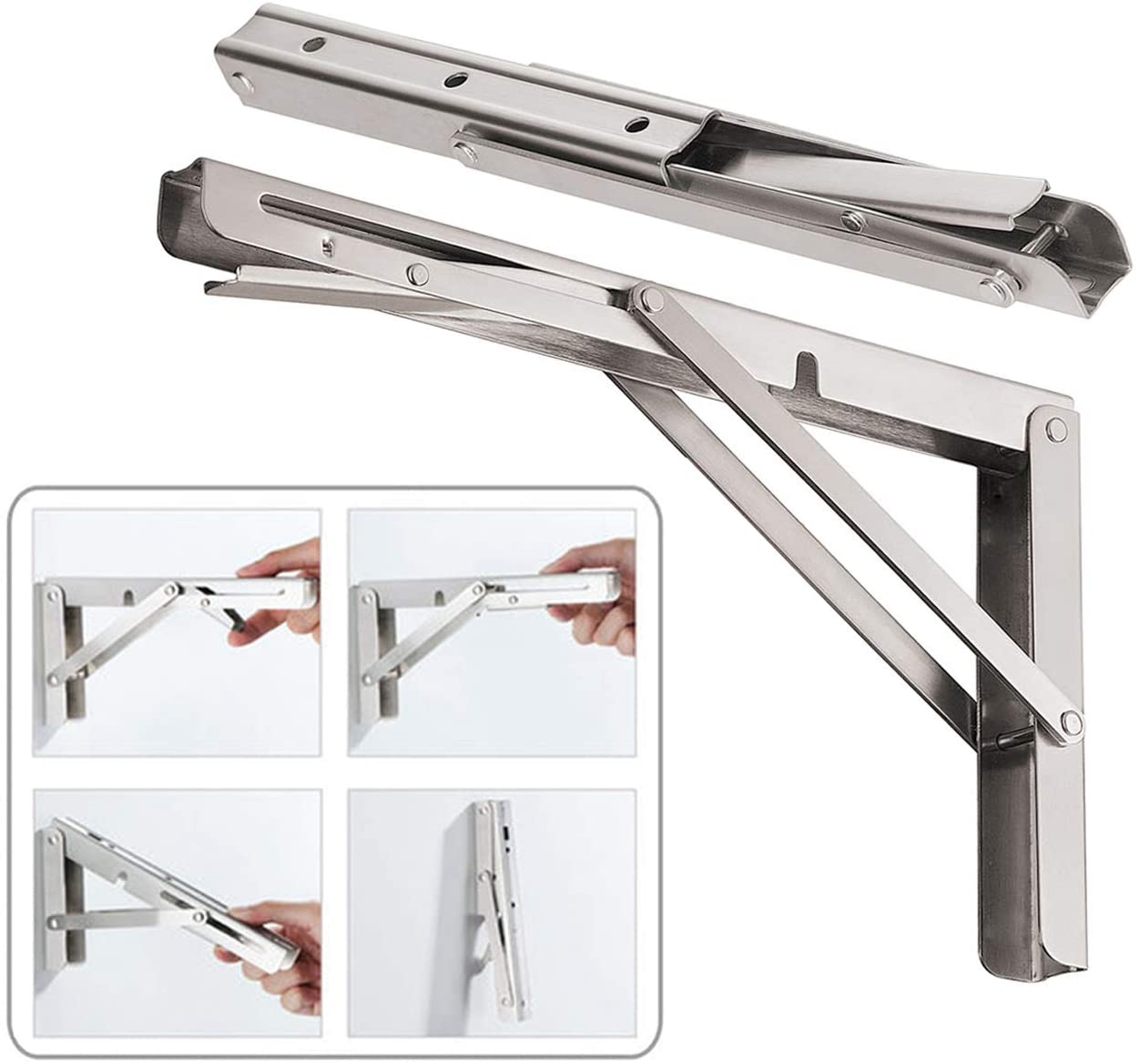 CUZURLUV 16'' Folding Shelf Brackets Max. Load 440 lb
