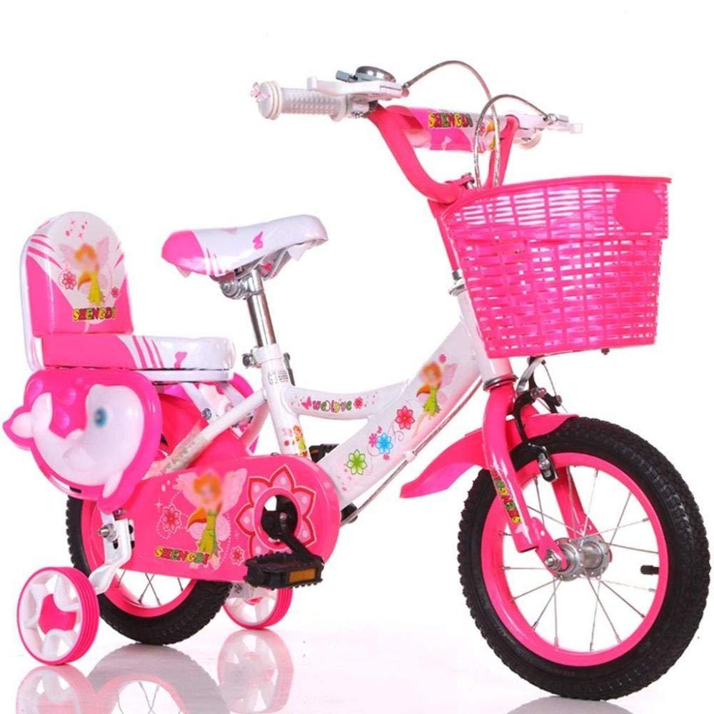 DTTX002 Bicicleta con Estilo Y Simple, Bicicleta De La Bicicleta del Niño Y De La Muchacha, Bicicleta Personal De La Niñez, Bicicleta Auxiliar De La Bicicleta del Bebé DE 2-9 Años,Rosado,120cm