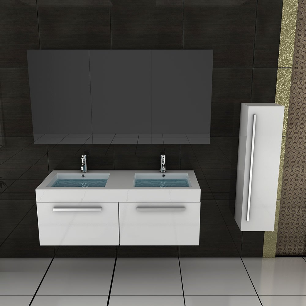 doppelwaschtisch mit unterschrank und spiegelschrank. Black Bedroom Furniture Sets. Home Design Ideas