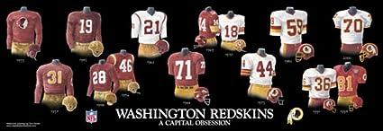 sale retailer 1126c b4284 Framed Evolution History Washington Redskins Uniforms Print