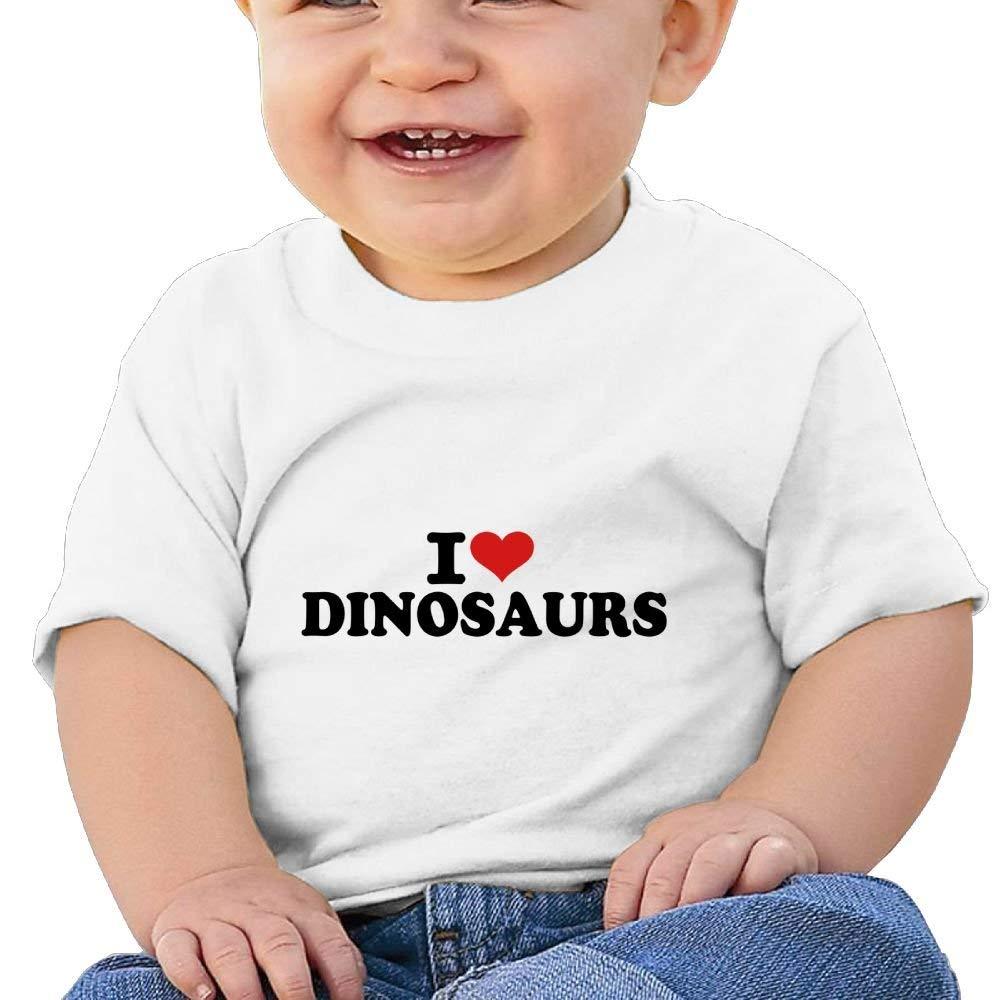 Short Sleeves T-Shirt I Love Dinosaurs Birthday Day 6-24 Months Baby Boys Kids