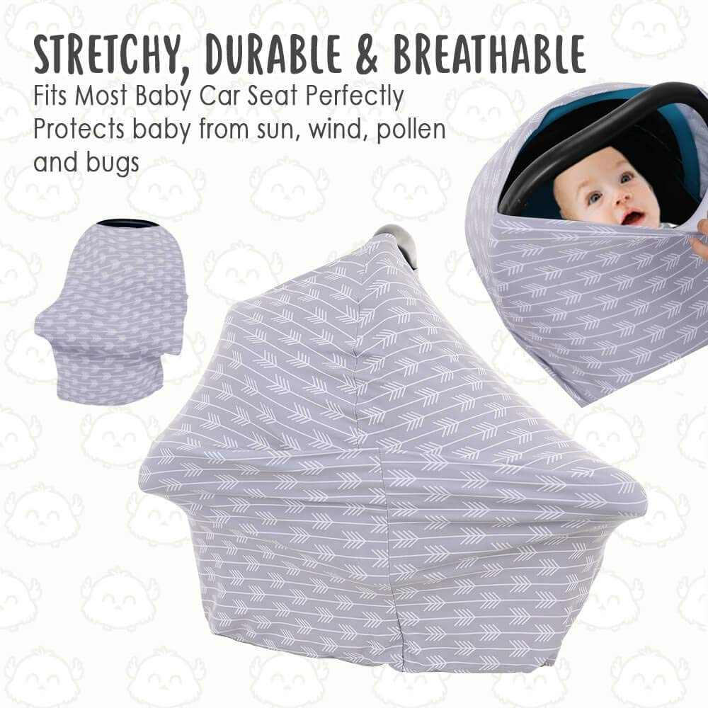 Boys Tribal Arrow Infinity Nursing Cover Up for Girls All-in-1 Soft Breathable Stretchy Carseat Canopy Nursing Cover for Baby Breastfeeding Car Seat Canopy by KeaBabies