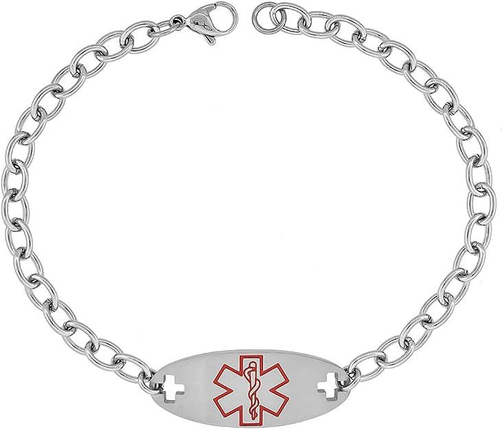 Penicillin Allergy Paracord Medical Alert Bracelet