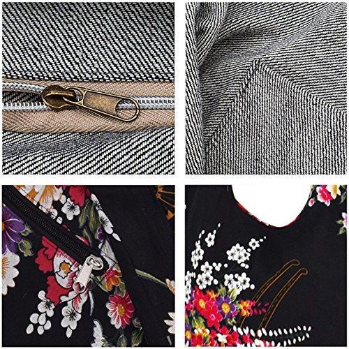 Witery Women's Sling Crossbody Bags Large Shoulder Shopping Hobo Bag Handbag Top Zip Bags Handmade Messenger Bag Wallet by Witery (Image #8)