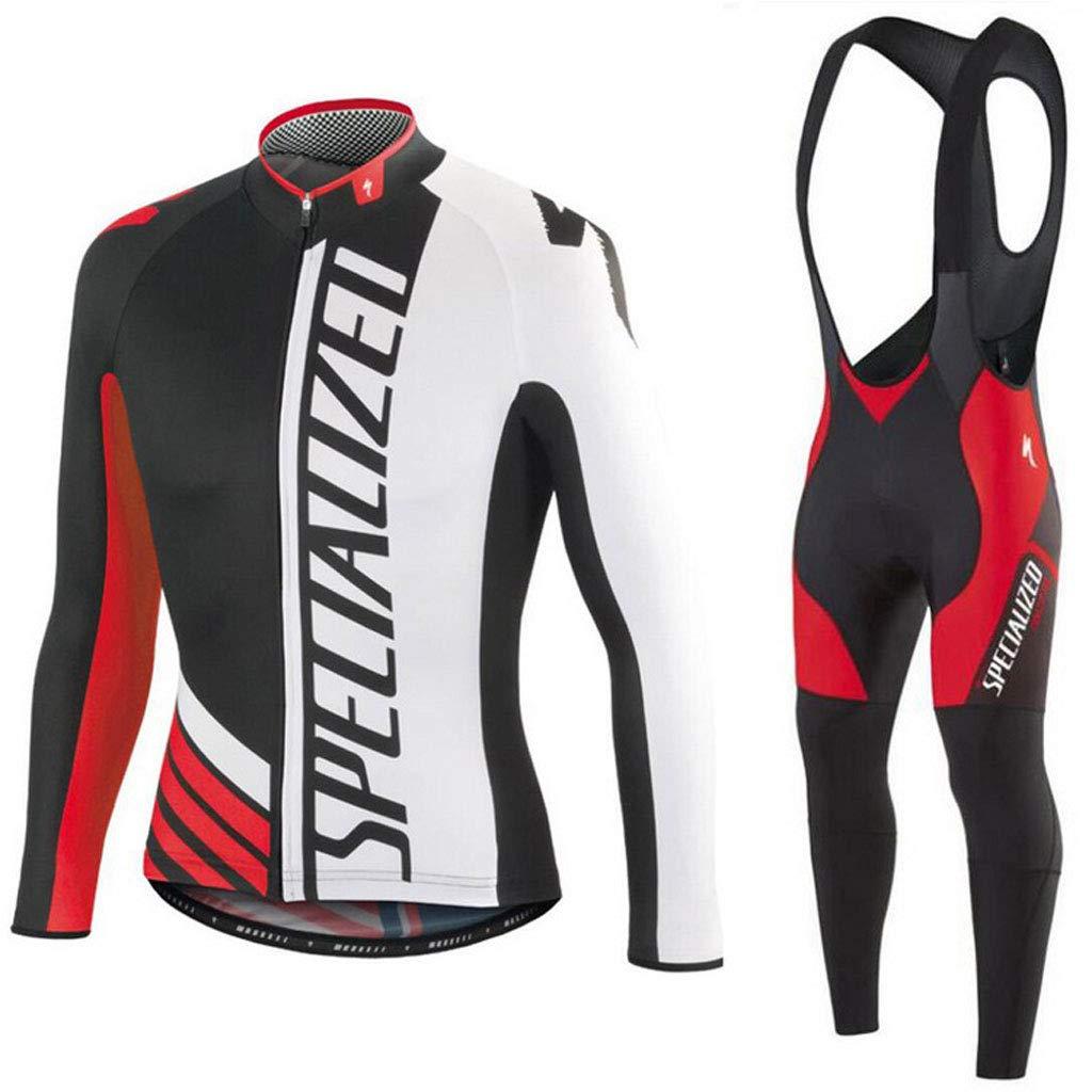 Xiaoping Radsportbekleidung Schwarz Rot Atmungsaktiv Langarmanzug Radfahren Sportgeräte