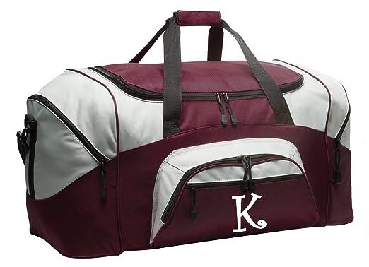 Personalized Duffle Bag Large Gym Luggage Suitcase Maroon