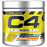 Cellucor C4 Original Pre Workout Powder Energy Drink w/ Creatine, Nitric Oxide & Beta Alanine, Orange Burst, 30 Servings