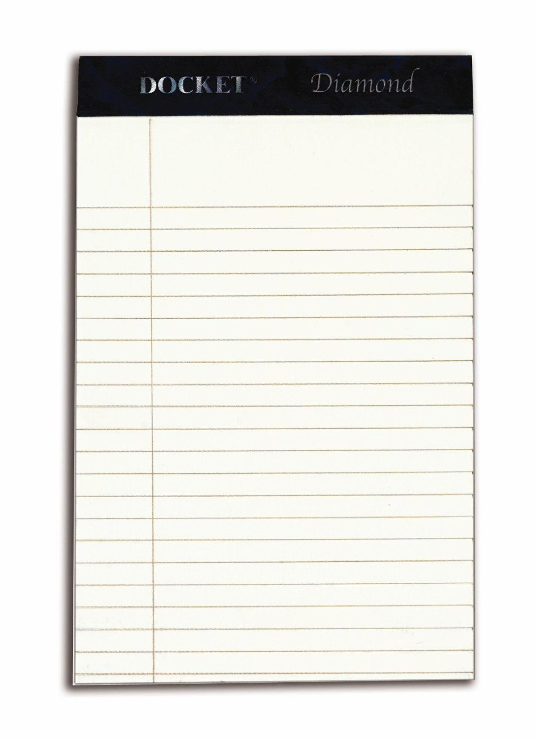 TOPS Docket Diamond 100% Recycled Premium Stationery Tablet, 5 x 8 Inches, Perforated, Ivory, Narrow Rule, 50 Sheets per Pad, 4 Pads per Pack (63982)