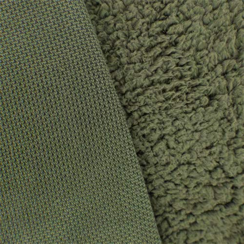 Army Green Sherpa Fleece, Fabric by The Yard