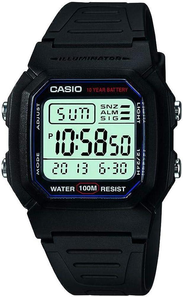 Casio Mens Classic Digital Sport Watch - W800H-1AVCF